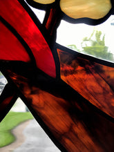 Cardinal Birds in Dogwood Tree - Stained Glass