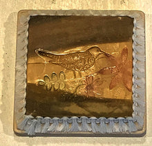 Brown Clay Coaster Depeicting a Bird & Flower by Seasons
