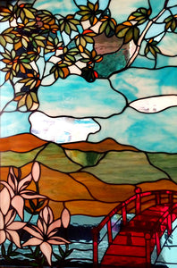 """Chinese Garden"" Stained Glass"