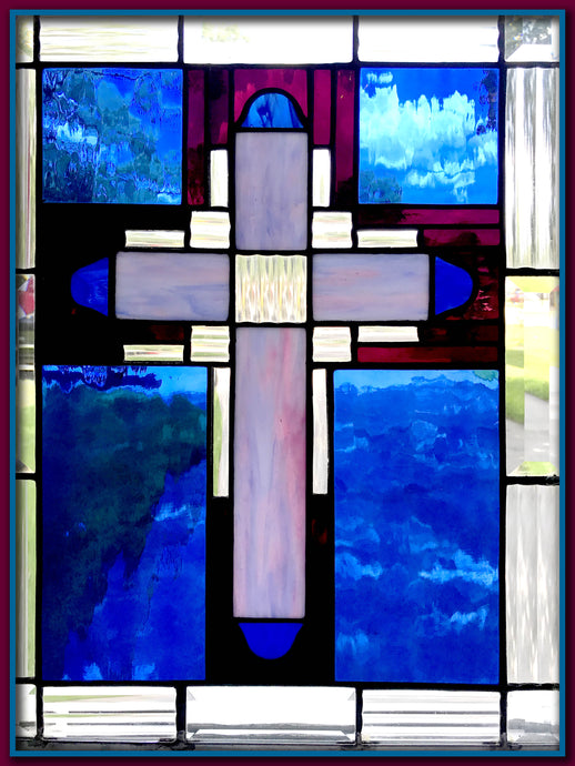Cross - Stained Glass Hand Made