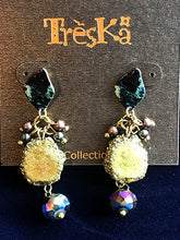 Linked Bead Drop Earrings - Nebula Series by Treska