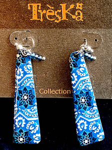 Tile Fragment Earrings - Andalucia Series by Treska