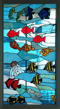 Sea Life - Stained Glass in Wood Frame