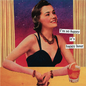 """Happy Hour""  Dinner Napkins - 20 pack"