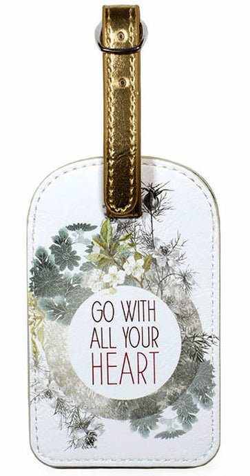 Luggage Tag - Go With All Your Heart