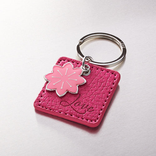 Pink Bible Verse Leather Key Ring -1 John 4:19