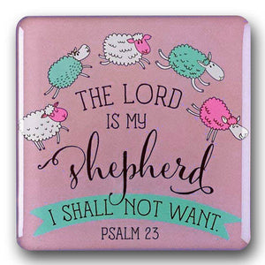 "Psalm 23  Refrigerator Magnet ""The Lord is my Shepherd"""