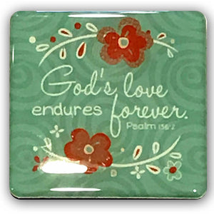"""God's Love Endures Forever"" Refrigerator Magnet"