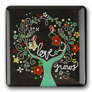 """Love Grows"" Refrigerator Magnet"