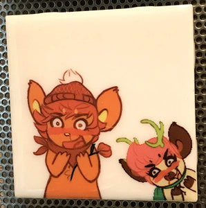 """Friends"" part 2 Tile Coaster/Magnet by Chigri"