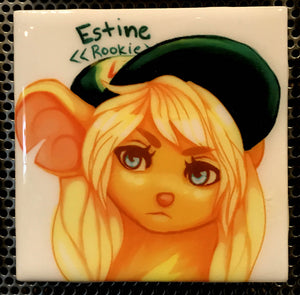 """Rookie"" Tile Coaster/Magnet by Chigri"