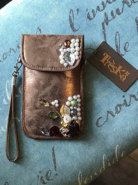 Micro Bag - Copper with Pearls