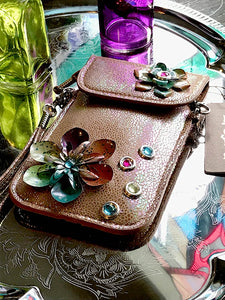 Micro Bag - Copper with Flowers