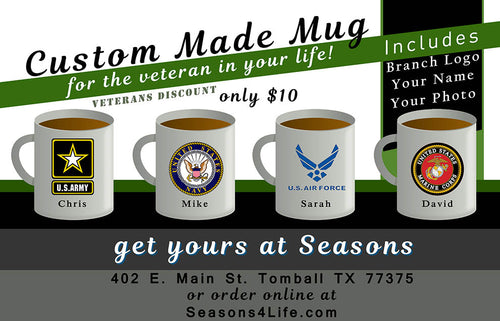 Military & Veterans - 11 oz mug - custom designed