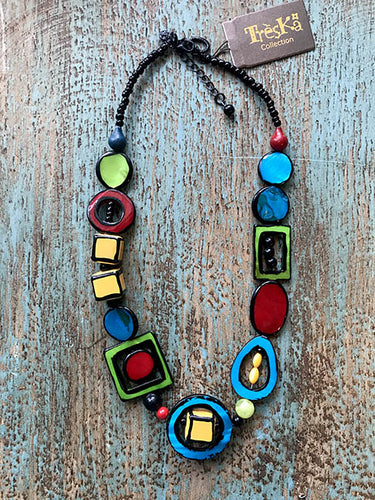 Colorful Cubes Necklace - Tahiti Series by Treska