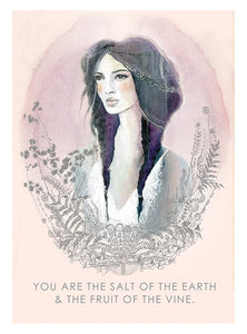 """Salt of the Earth"" Greeting Card - Papaya Art!"