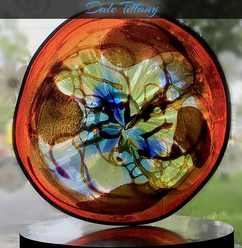 Red Blown Glass Bowl by Dale Tiffany - 12