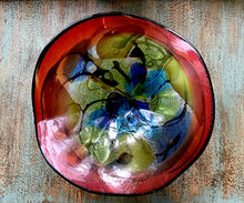 Red Blown Glass Bowl by Dale Tiffany - 12""