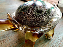 Hand Blown Glass Turtle Sculpture by Dale Tiffany - Green Spotted Back