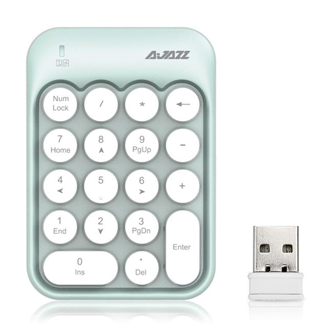 Ajazz AK18 2.4G Wireless USB Numeric Keyboard - Ultimate Gaming Equipment