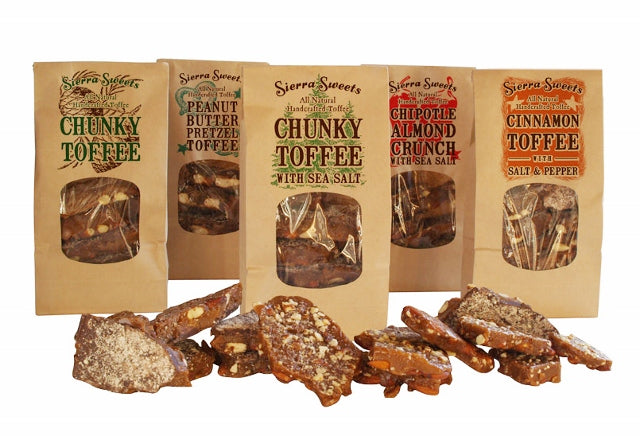 Sierra Sweets Toffees full line of products