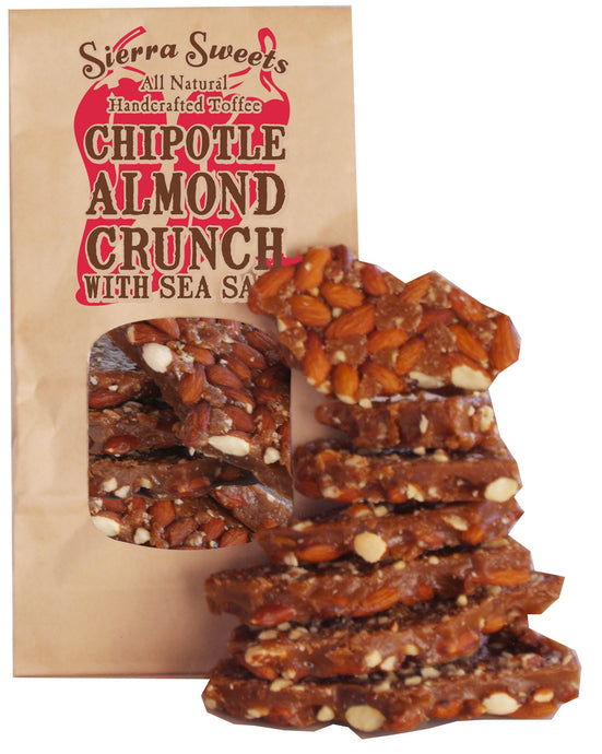 - CHIPOTLE ALMOND CRUNCH WITH SEA SALT