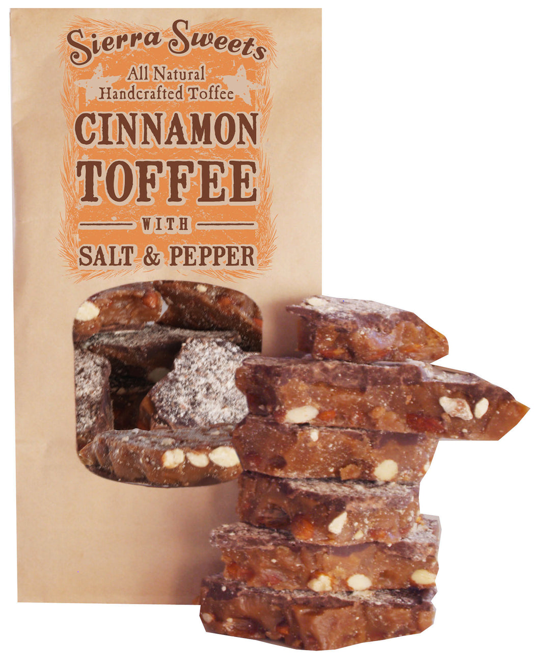 - CINNAMON TOFFEE WITH SALT & PEPPER