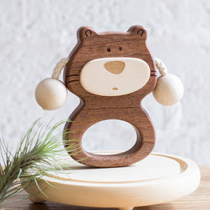 wooden-joy - Keke Bear Baby Rattle - Baby toys