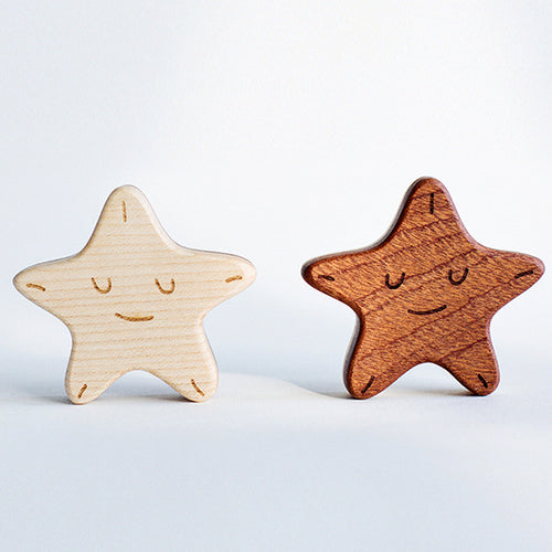 wooden-joy - Two-Star Baby Rattle - Baby toys