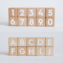 Load image into Gallery viewer, wooden-joy - Toddler Blocks - Number and Alphabet - Toddler Toys