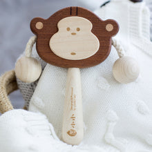 Load image into Gallery viewer, Baby Rattle made of solid wood and no paint for babies 6 months plus