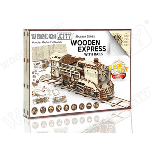 Wooden Express with Rails