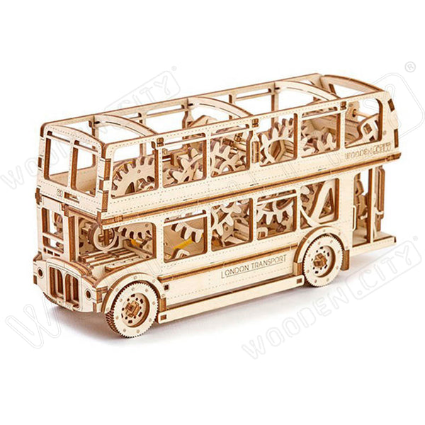 Wooden Puzzle - London Bus