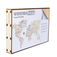 Wooden World Map L