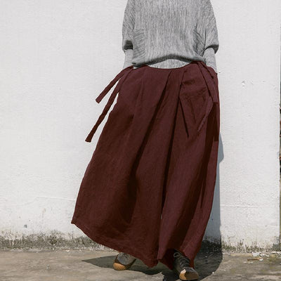 Linen Maxi Pants, Wide Leg Pants, Linen Pants for Women, Yoga Linen Pants, Plus Size Clothing -  IDETSNKF
