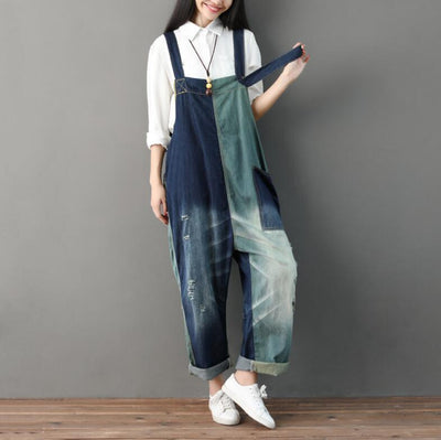 Womens Loose Fitting long pants, Overalls With Pockets, Casual Overalls, Casual Pants, large size Pants -  IDETSNKF
