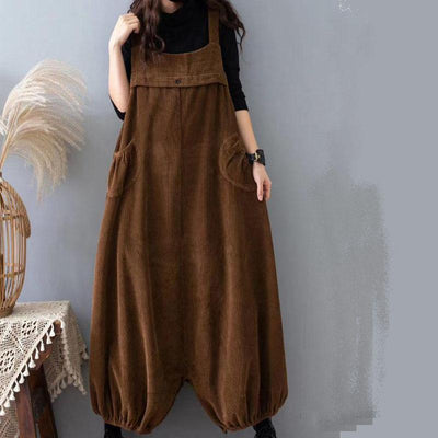 Women's corduroy overalls Pants, Loose Overalls Pants With Pockets, Vintage long pants, bloomers, Harem Pants -  IDETSNKF