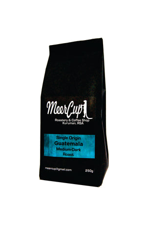 MeerCup Roastery single origin Guatemala roasted coffee beans blue label