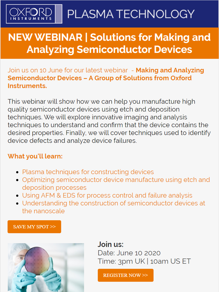 Webinar-Solutions for Making and Analyzing Semiconductor Devices