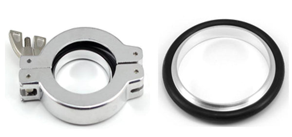 KF NW Aluminium Cast Swing Clamps with Al/NBR Centering Ring Package - Nano Vacuum