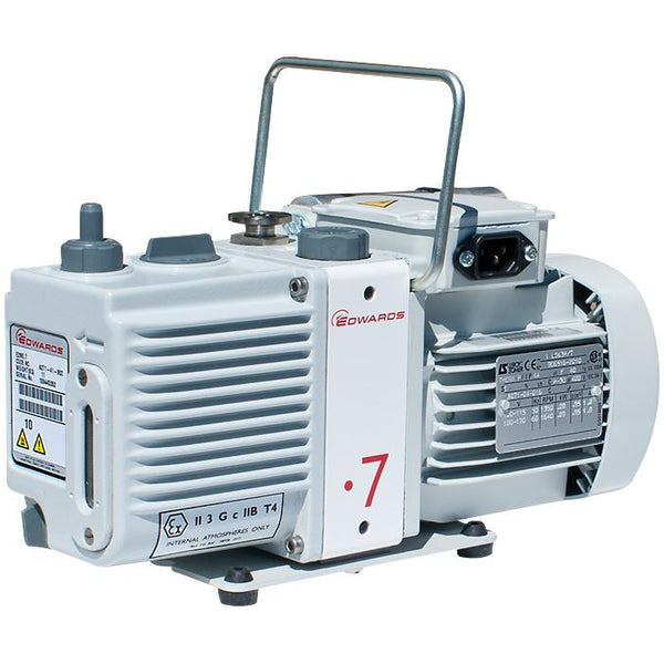 Edwards E2M0.7 Rotary Vane Vacuum Pump (1ph Motor 200-230V, 50/60Hz) - Nano Vacuum Australia & New Zealand