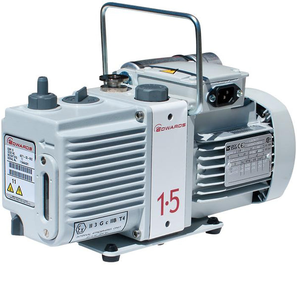 Edwards E2M1.5 Rotary Vane Vacuum Pump (1ph Motor 200-230V, 50/60Hz) - Nano Vacuum Australia & New Zealand