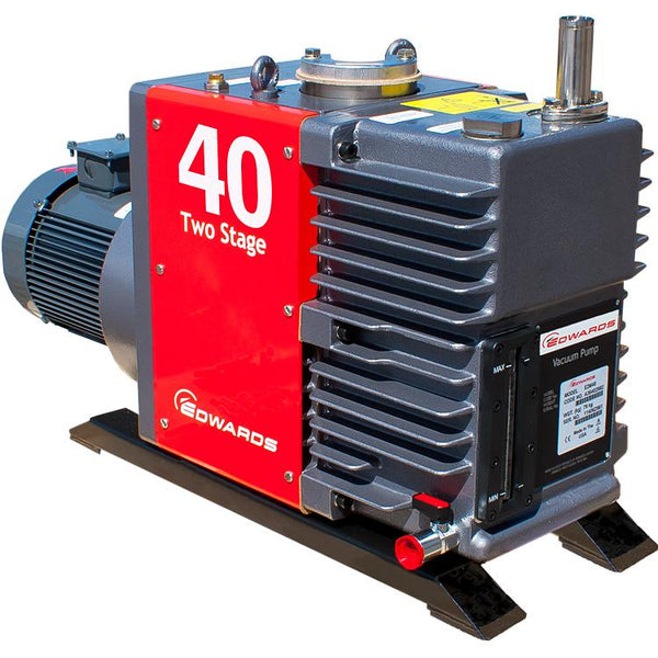 Edwards E2M40 Rotary Vane Vacuum Pump (3ph Motor 380-400V 50Hz, 230/460 60Hz) - Nano Vacuum Australia & New Zealand