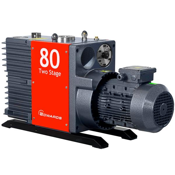 Edwards E2M80 Rotary Vane Vacuum Pump (3ph Motor 380-400V 50Hz, 230/460 60Hz) - Australia & New Zealand