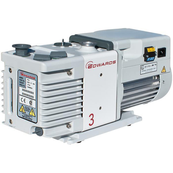 Edwards RV3 Rotary Vane Vacuum Pump (1ph Motor 115/230V, 50/60Hz) - Nano Vacuum
