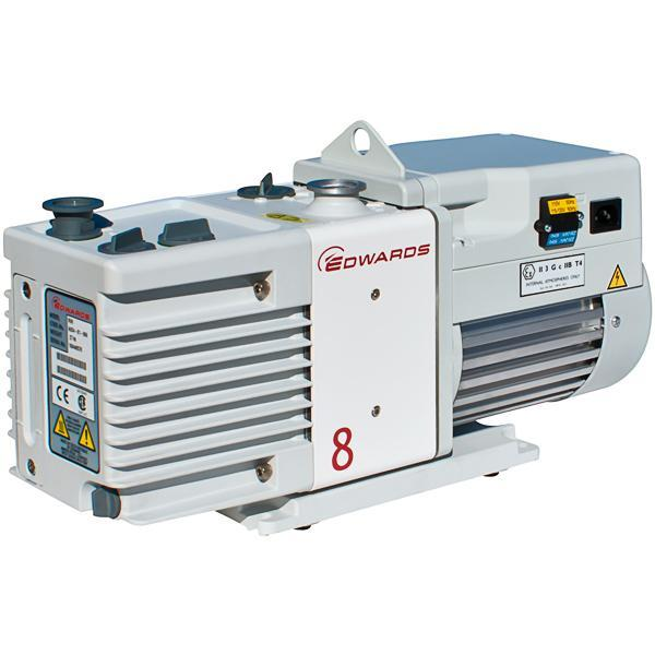 Edwards RV8 Rotary Vane Vacuum Pump (1ph Motor 115/230V, 50/60Hz) - Nano Vacuum