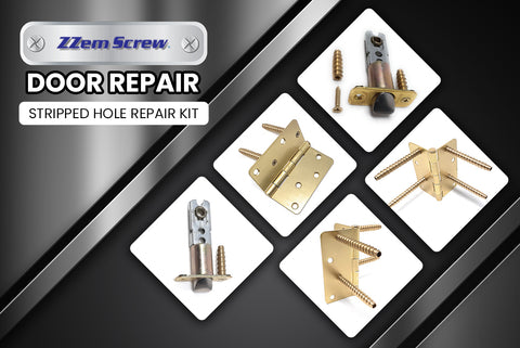Door Security & Door Repair kit for stripped hinge screws