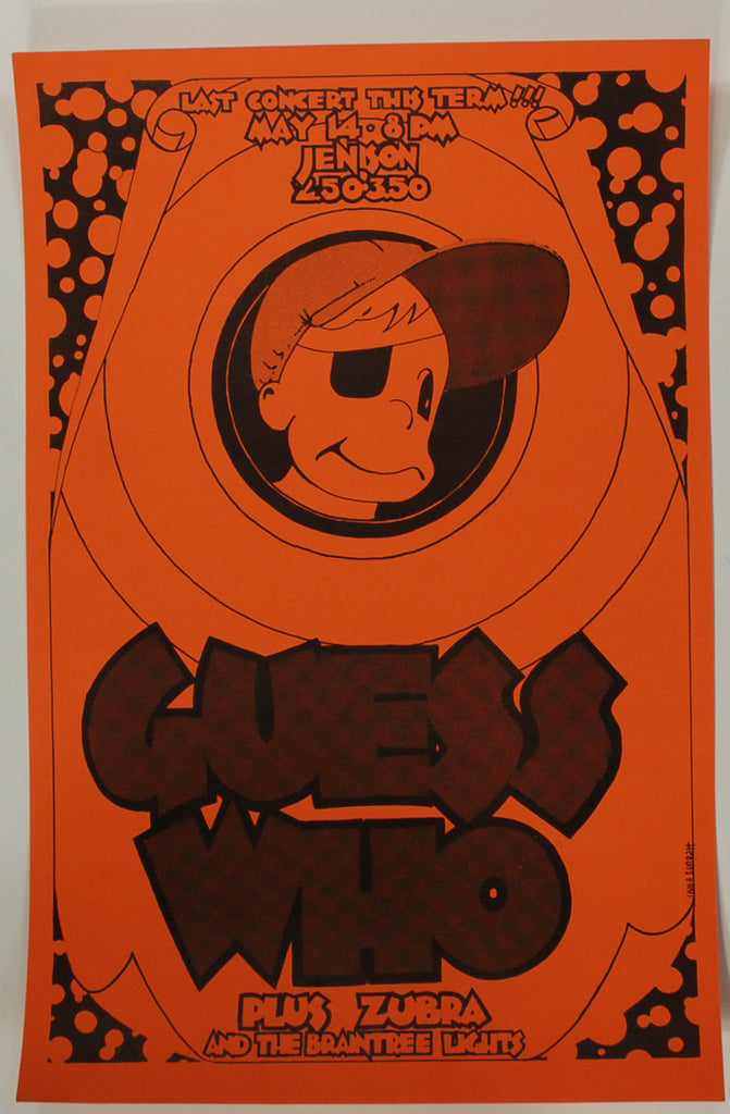 psychedelic art exchange concert poster store guess who jenison field house near mint. Black Bedroom Furniture Sets. Home Design Ideas