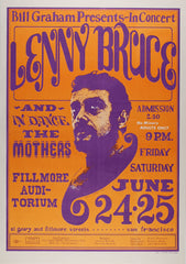 (BG-13) Lenny Bruce, Fillmore Auditorium *Mint Condition*