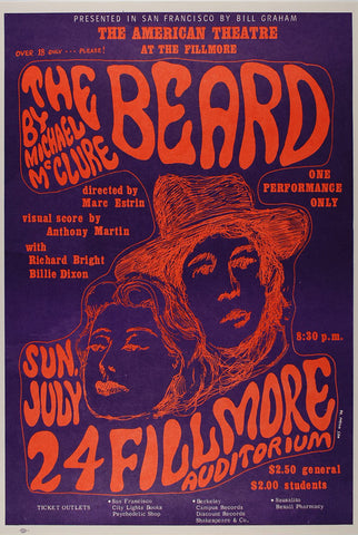 (BG-19) The Beard, Fillmore Auditorium *Mint Condition*